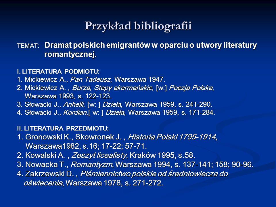 Przykład bibliografii