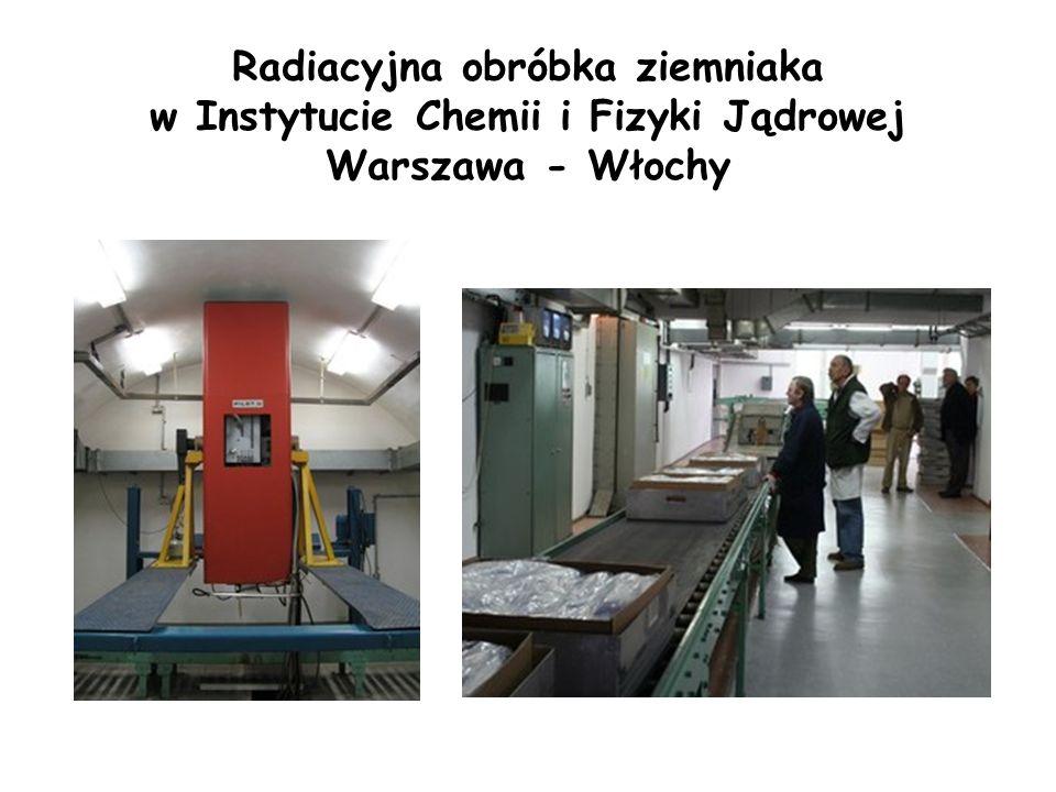 Radiacyjna obróbka ziemniaka w Instytucie Chemii i Fizyki Jądrowej Warszawa - Włochy