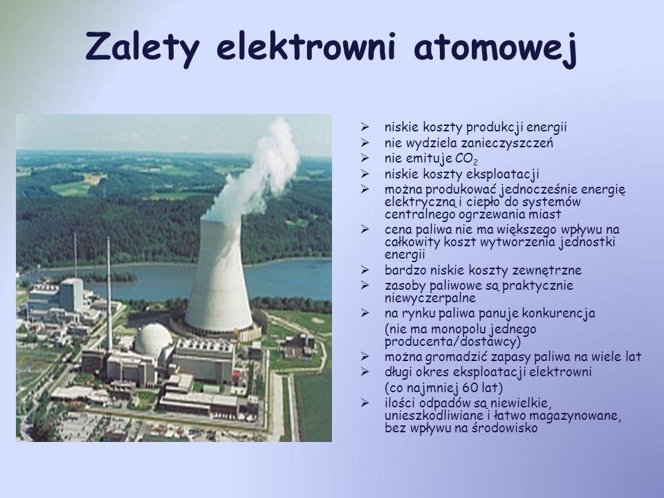 Zalety elektrowni atomowej
