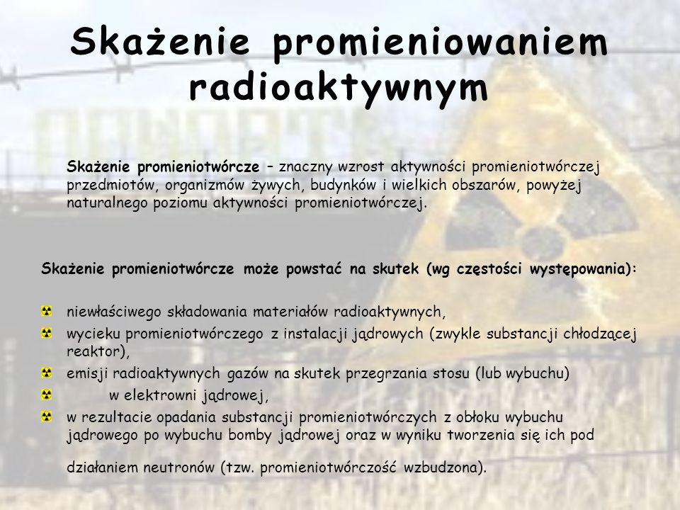 Skażenie promieniowaniem radioaktywnym