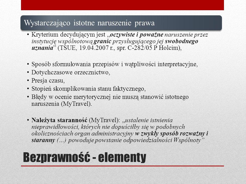 Bezprawność - elementy