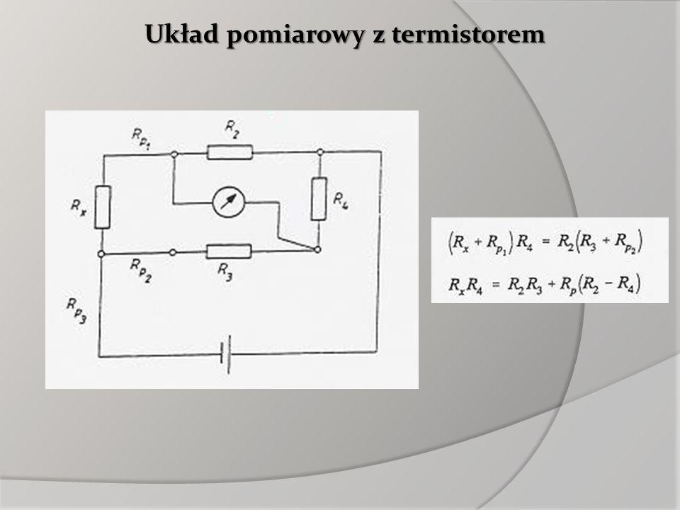 Układ pomiarowy z termistorem