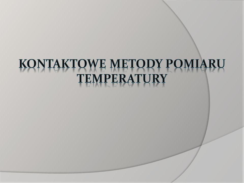 Kontaktowe metody pomiaru temperatury