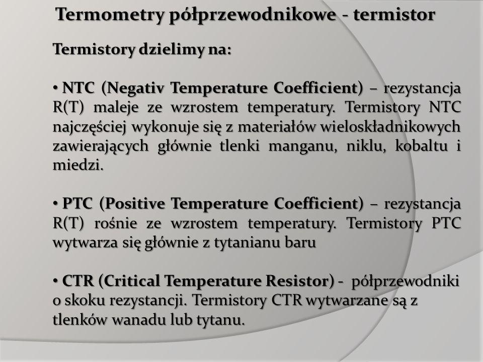 Termometry półprzewodnikowe - termistor