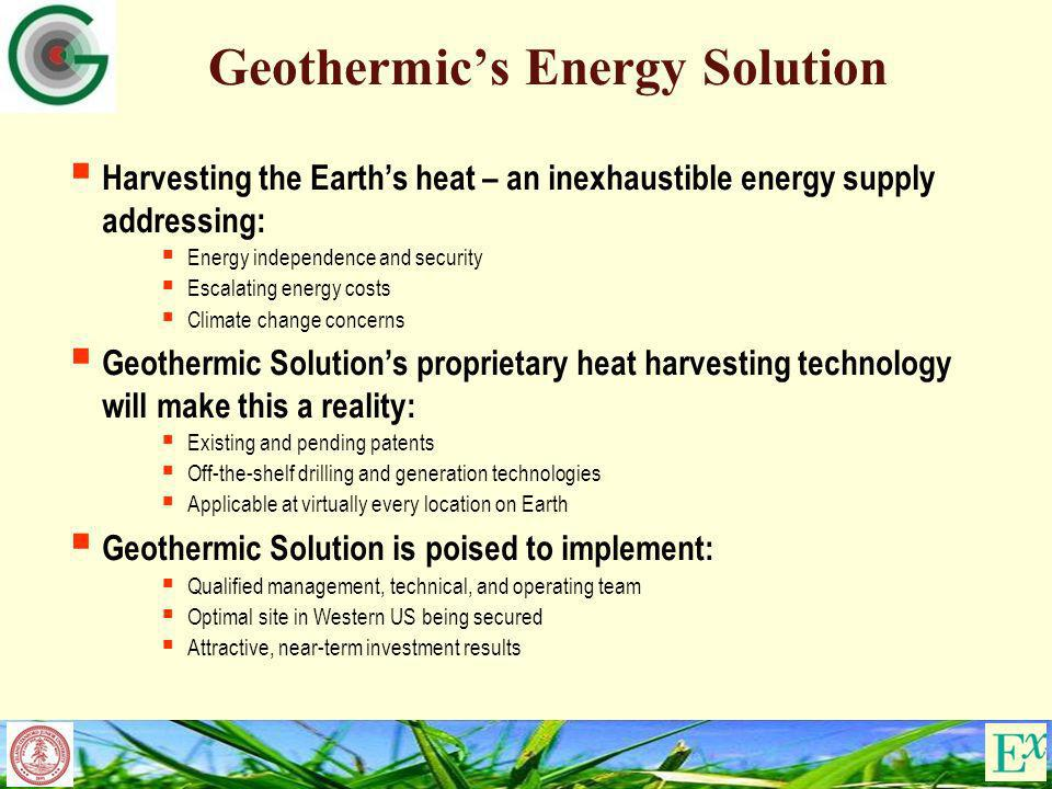 Geothermic's Energy Solution