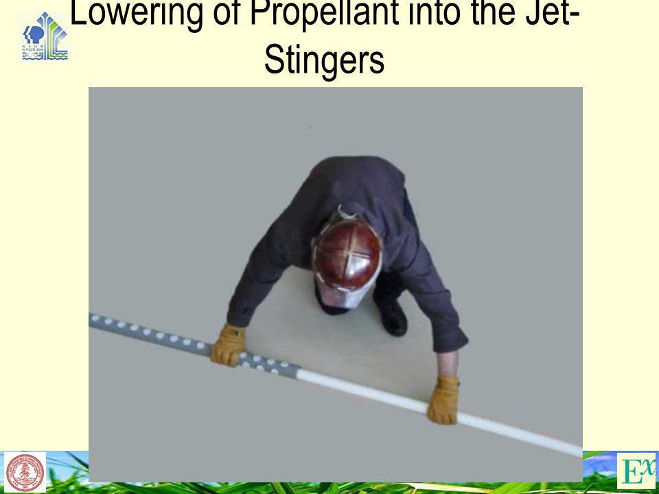 Lowering of Propellant into the Jet-Stingers
