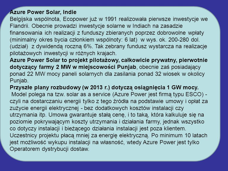 Azure Power Solar, Indie
