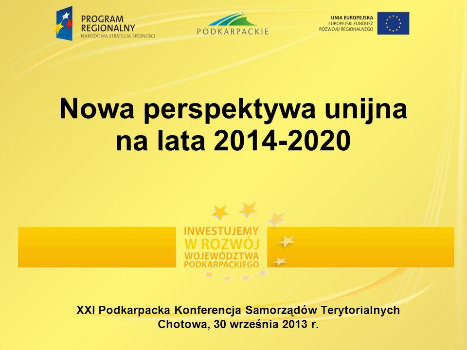 Nowa perspektywa unijna na lata 2014-2020