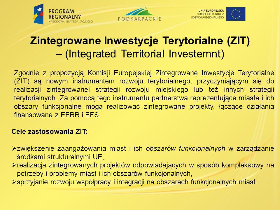 Zintegrowane Inwestycje Terytorialne (ZIT)