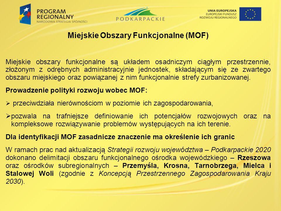 Miejskie Obszary Funkcjonalne (MOF)