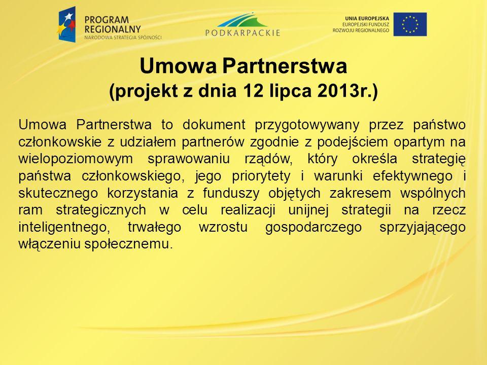 Umowa Partnerstwa (projekt z dnia 12 lipca 2013r.)
