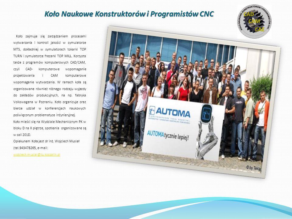 Koło Naukowe Konstruktorów i Programistów CNC
