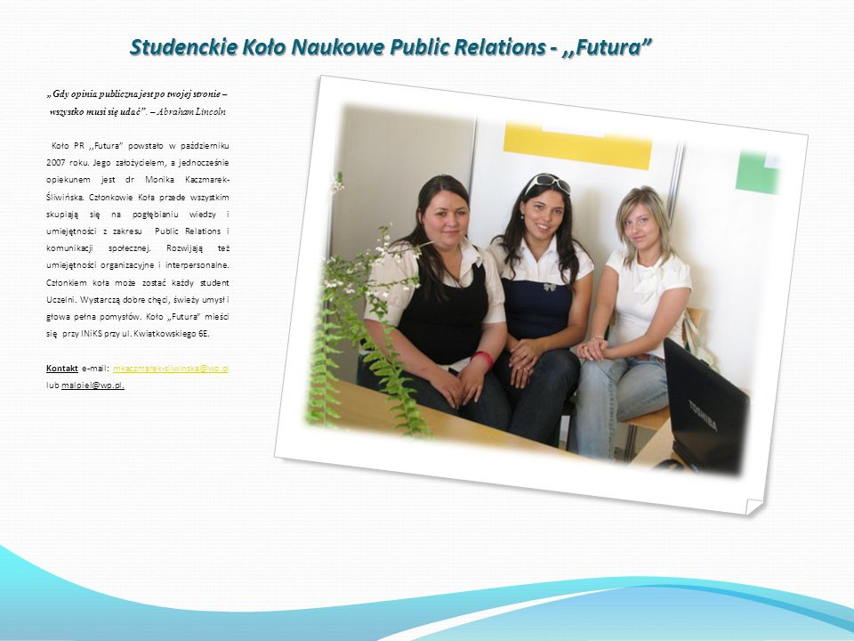 Studenckie Koło Naukowe Public Relations - ,,Futura