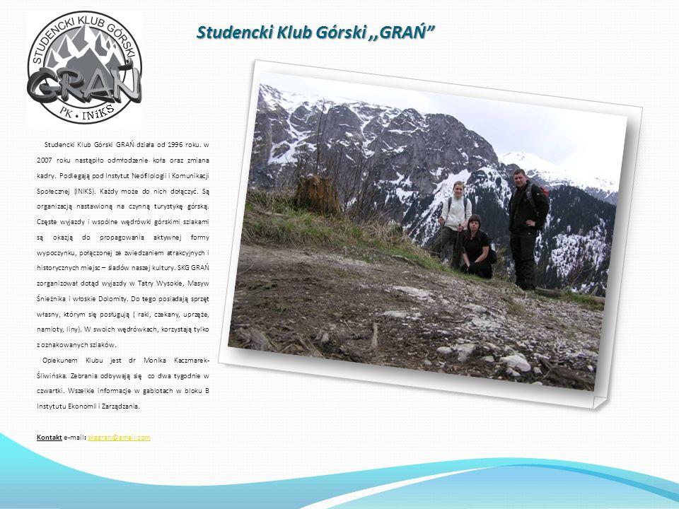 Studencki Klub Górski ,,GRAŃ