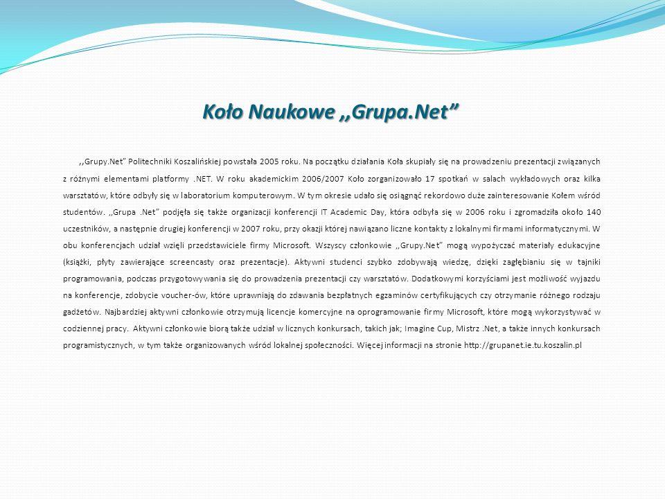 Koło Naukowe ,,Grupa.Net