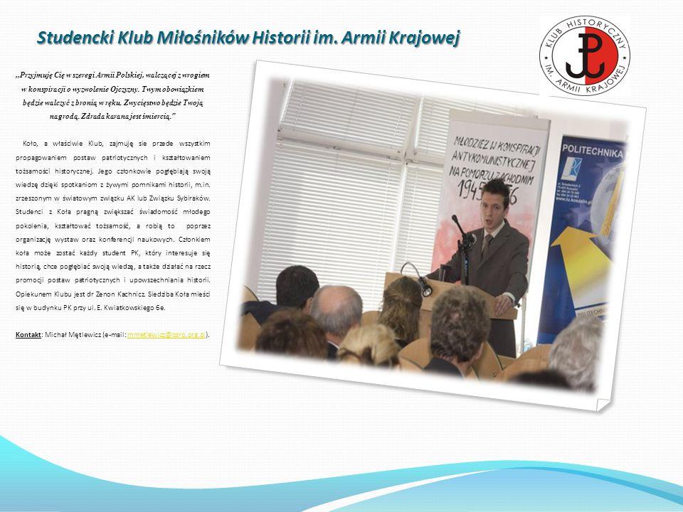 Studencki Klub Miłośników Historii im. Armii Krajowej