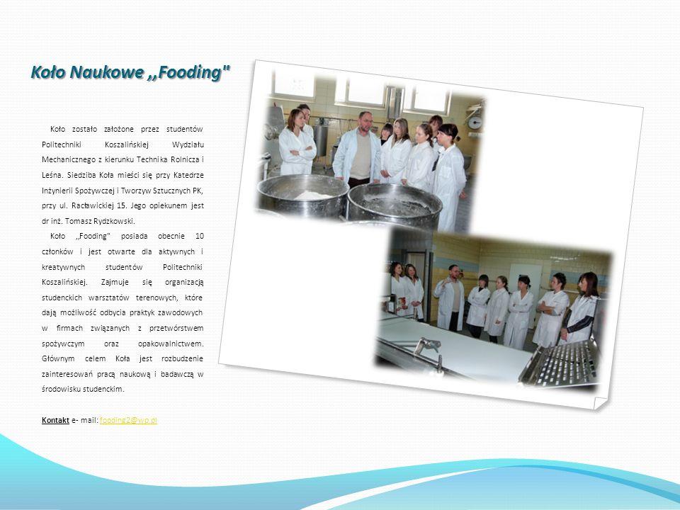 Koło Naukowe ,,Fooding