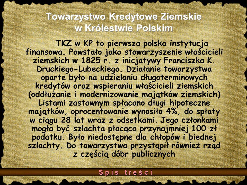 Towarzystwo Kredytowe Ziemskie w Królestwie Polskim