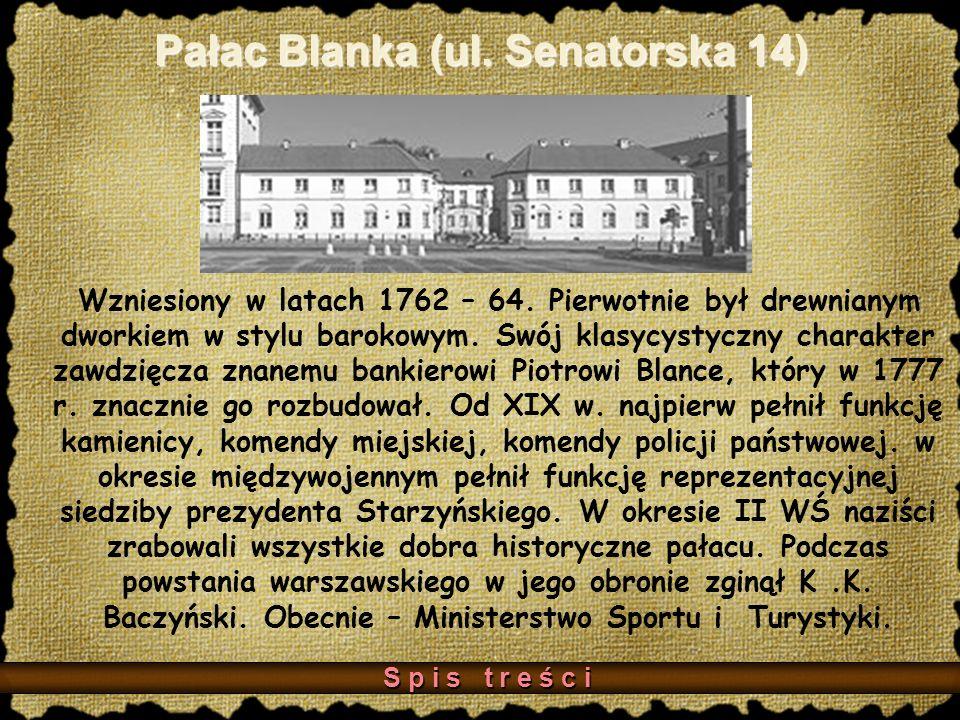 Pałac Blanka (ul. Senatorska 14)