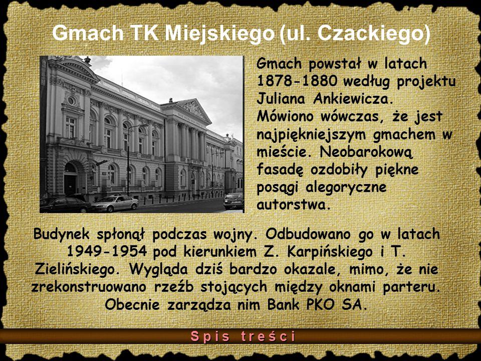 Gmach TK Miejskiego (ul. Czackiego)