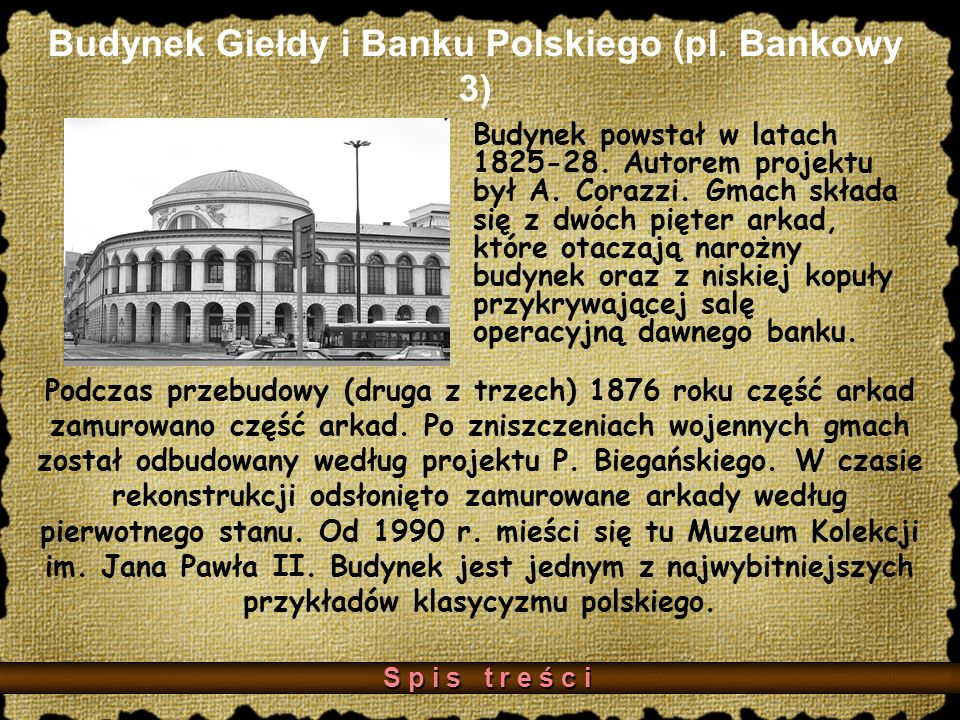 Budynek Giełdy i Banku Polskiego (pl. Bankowy 3)