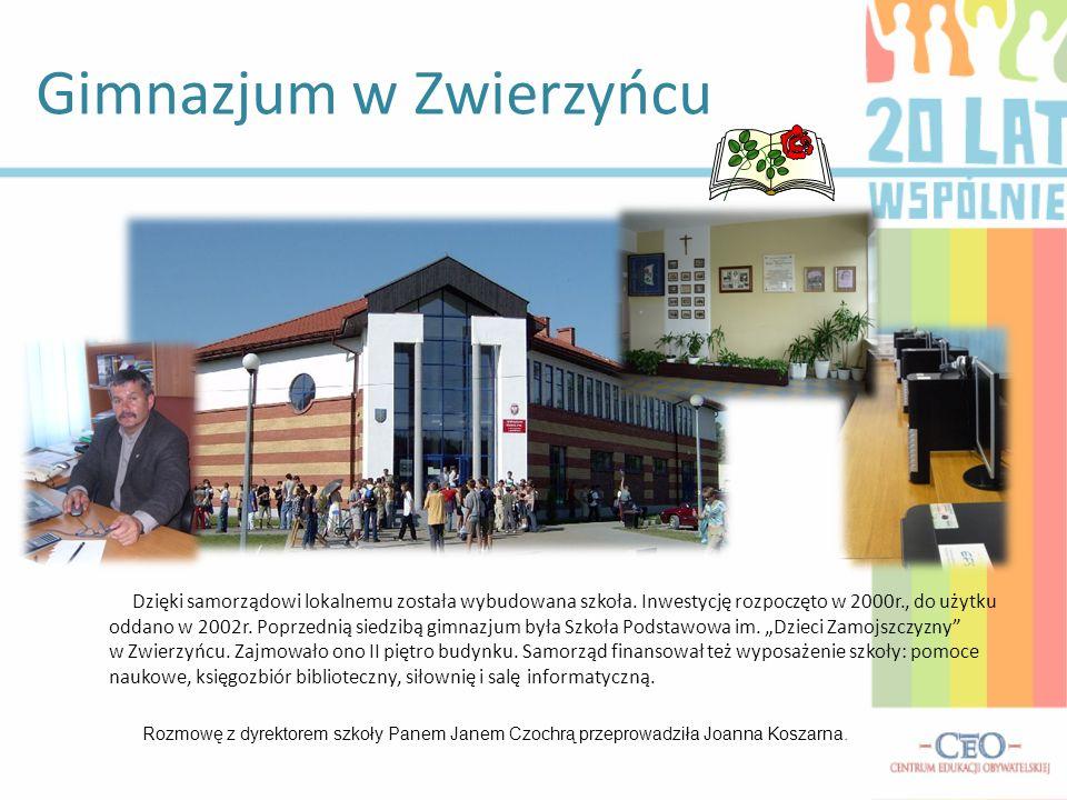 Gimnazjum w Zwierzyńcu