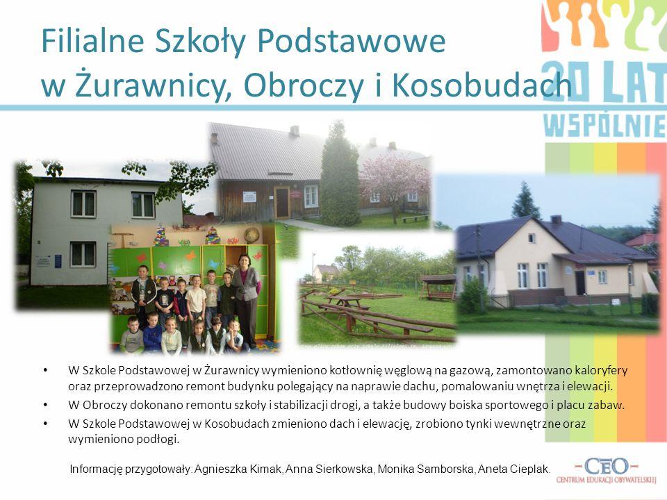 Filialne Szkoły Podstawowe w Żurawnicy, Obroczy i Kosobudach