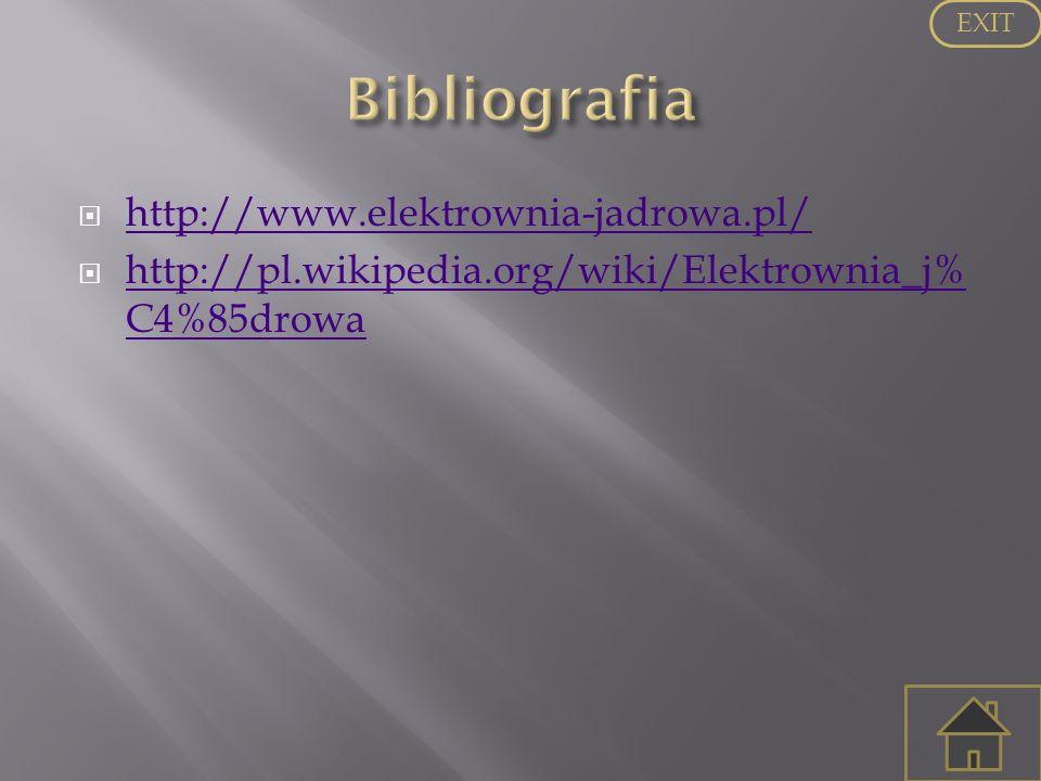 Bibliografia http://www.elektrownia-jadrowa.pl/
