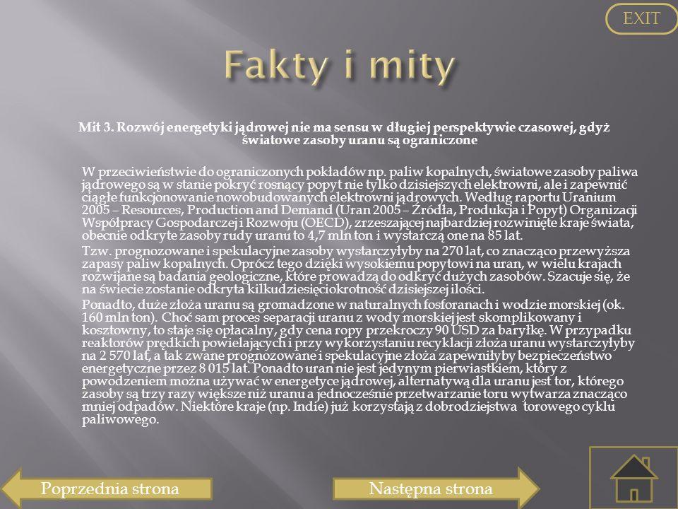 Fakty i mity EXIT Poprzednia strona Następna strona