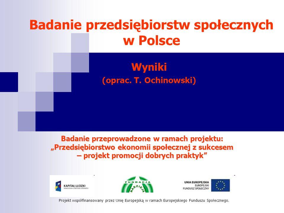 Badanie przedsiębiorstw społecznych w Polsce
