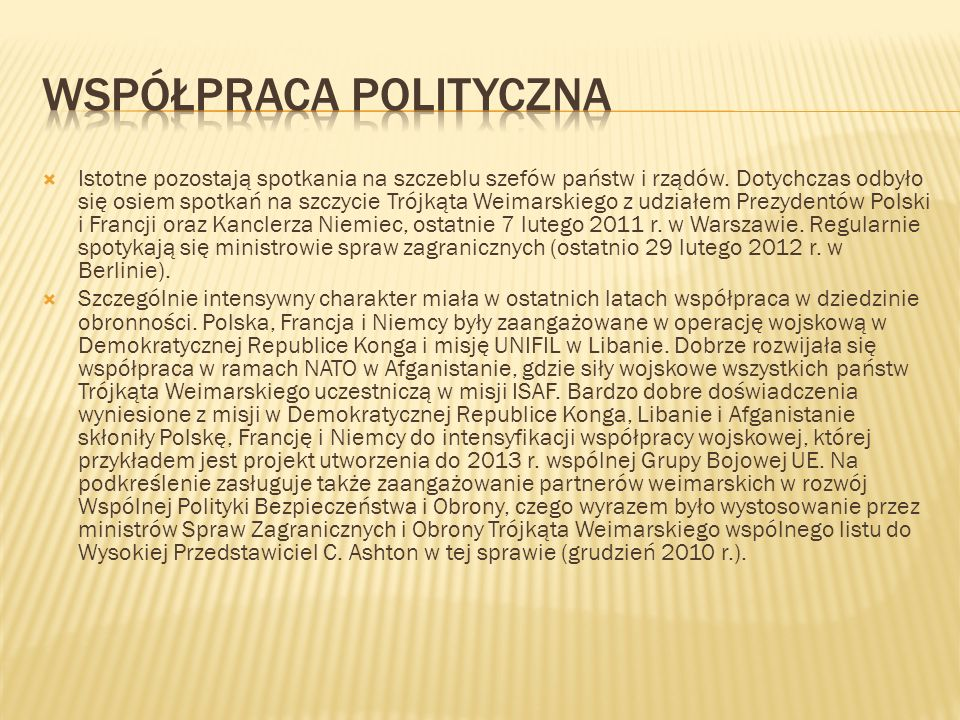 Współpraca polityczna