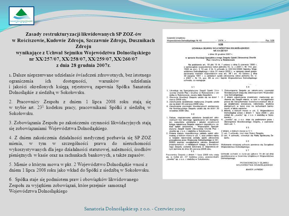 Zasady restrukturyzacji likwidowanych SP ZOZ-ów