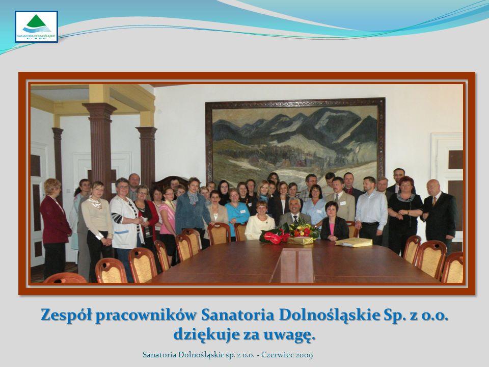SP. Z O.O. Zespół pracowników Sanatoria Dolnośląskie Sp.