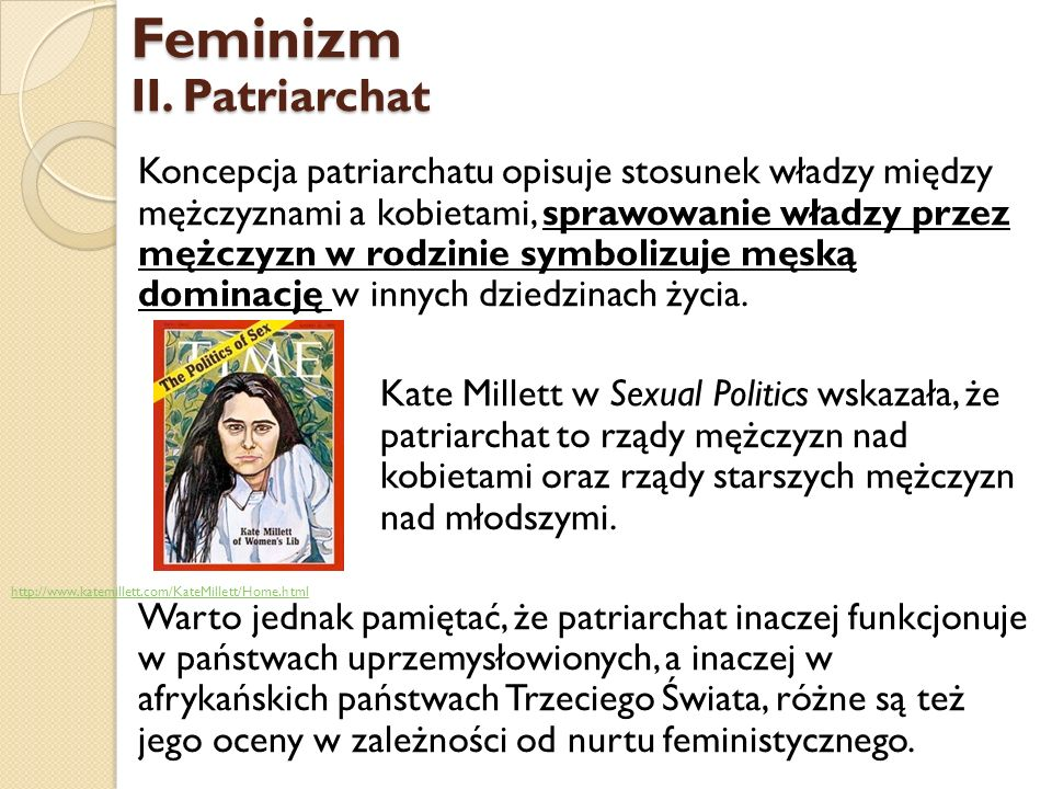 Feminizm II. Patriarchat