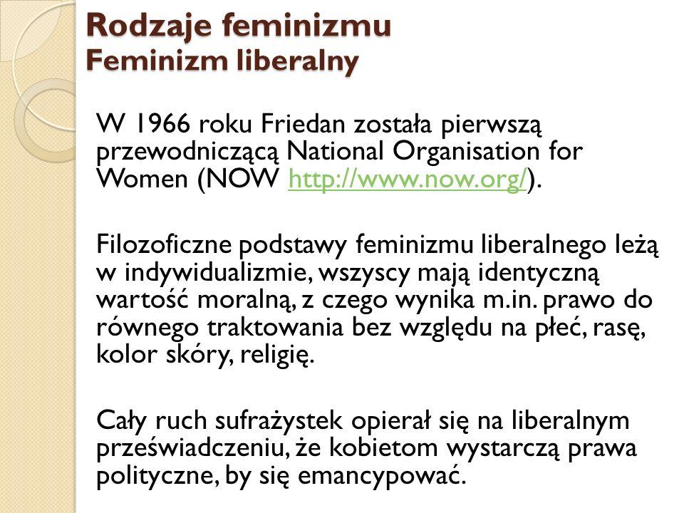 Rodzaje feminizmu Feminizm liberalny