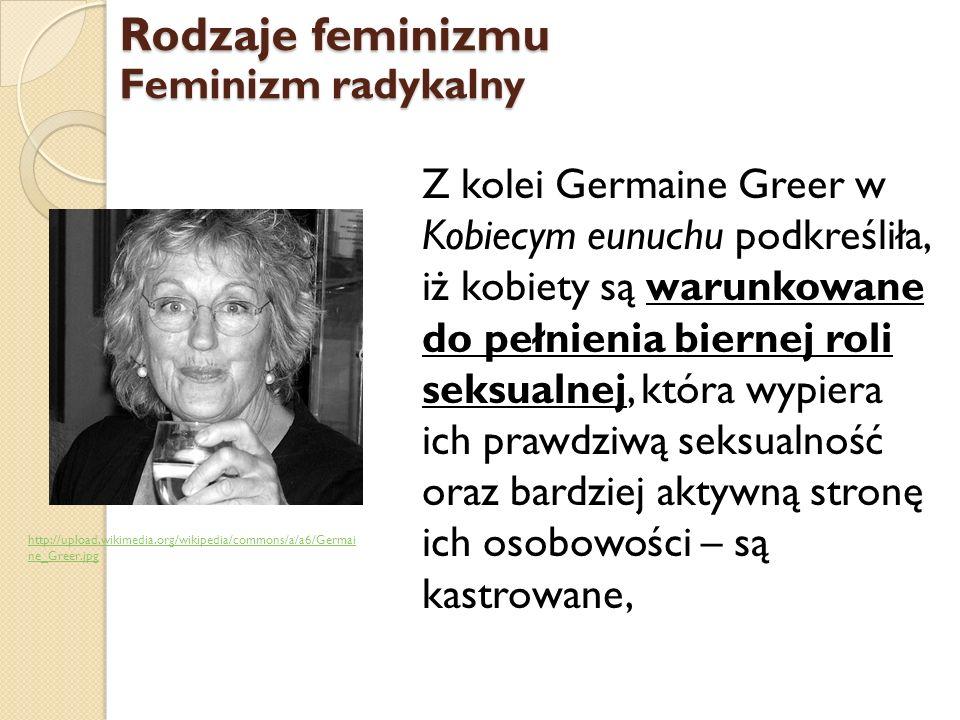 Rodzaje feminizmu Feminizm radykalny