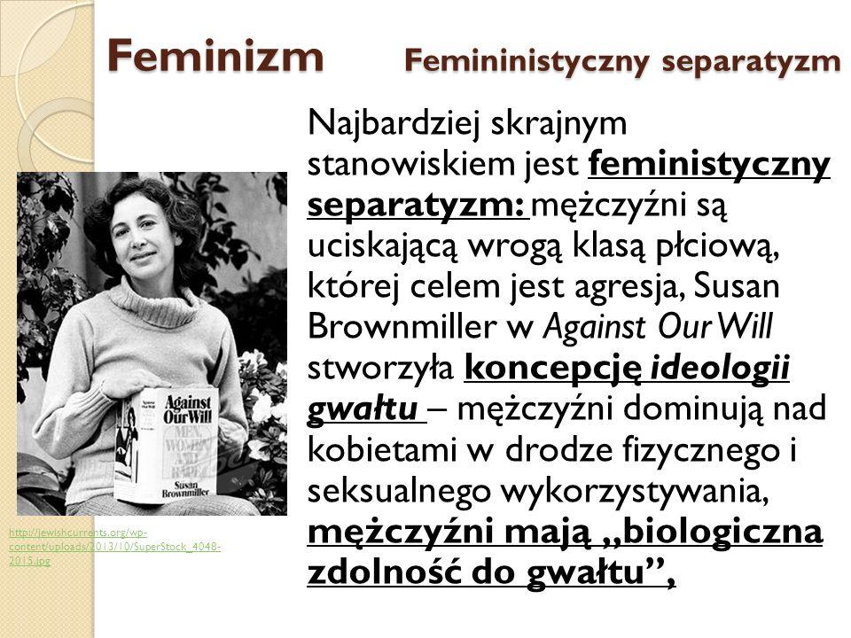Feminizm Femininistyczny separatyzm