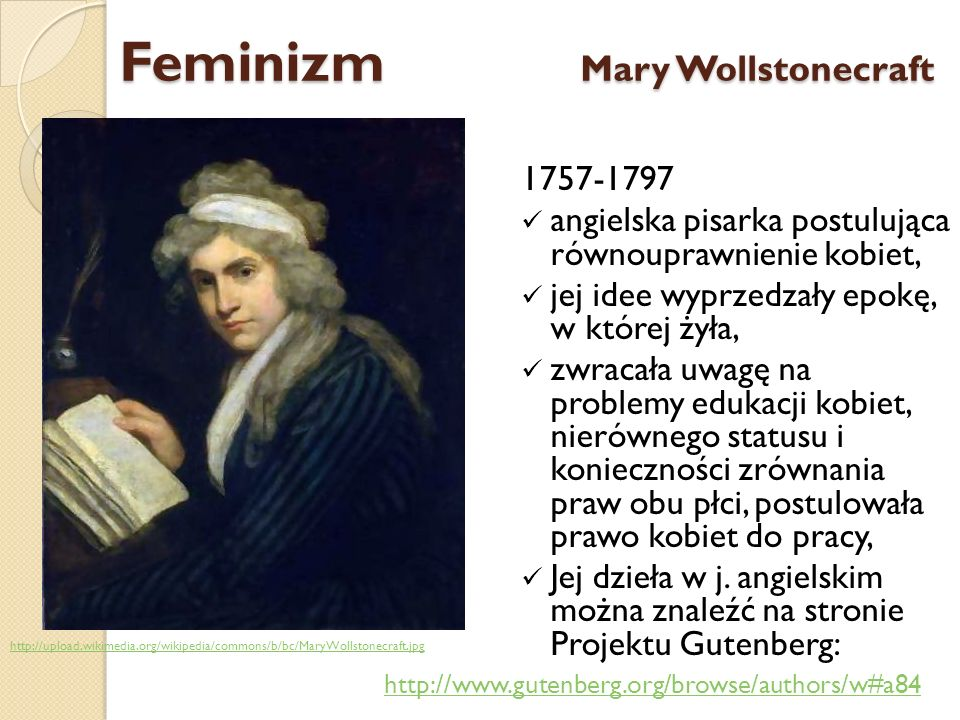 Feminizm Mary Wollstonecraft