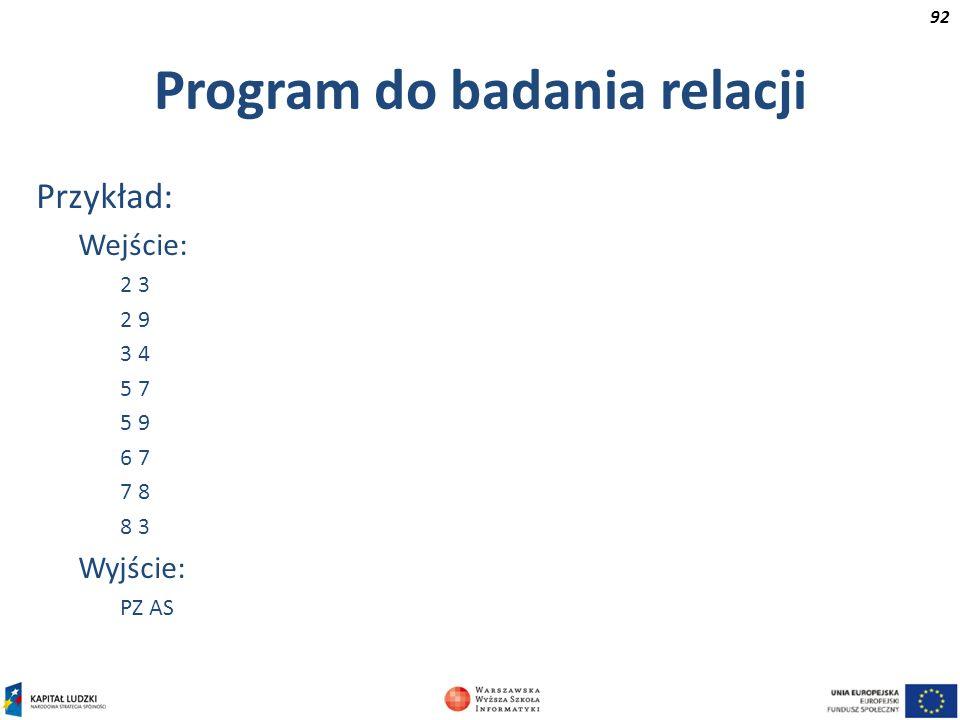 Program do badania relacji