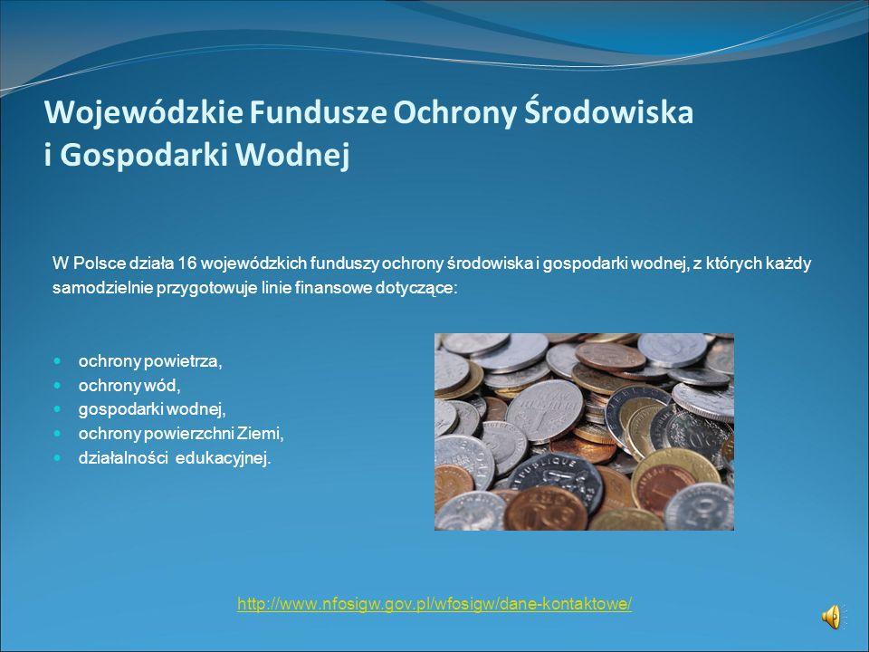 Wojewódzkie Fundusze Ochrony Środowiska i Gospodarki Wodnej