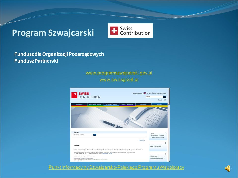 Punkt Informacyjny Szwajcarsko-Polskiego Programu Współpracy