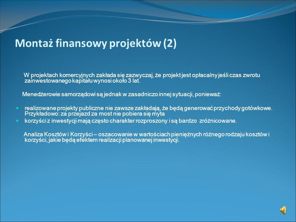 Montaż finansowy projektów (2)