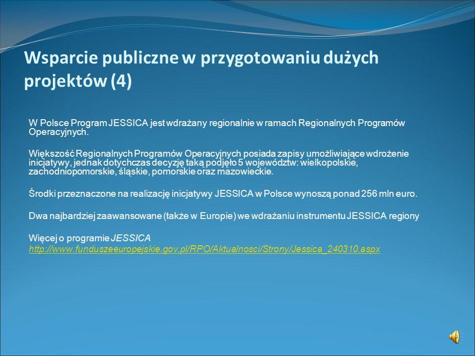 Wsparcie publiczne w przygotowaniu dużych projektów (4)