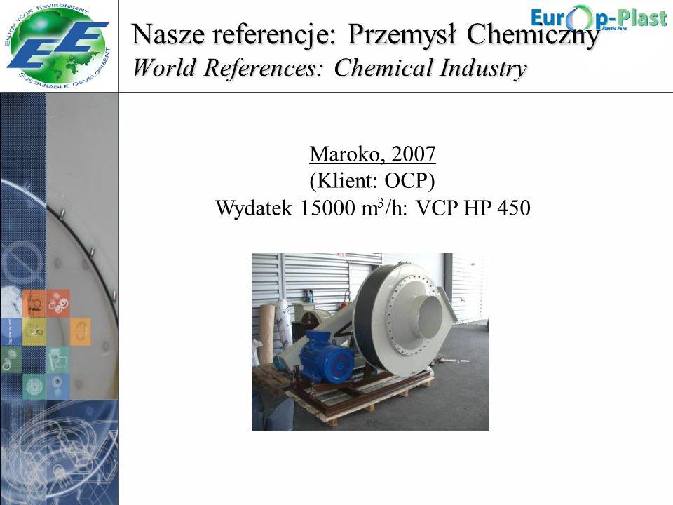 Nasze referencje: Przemysł Chemiczny World References: Chemical Industry
