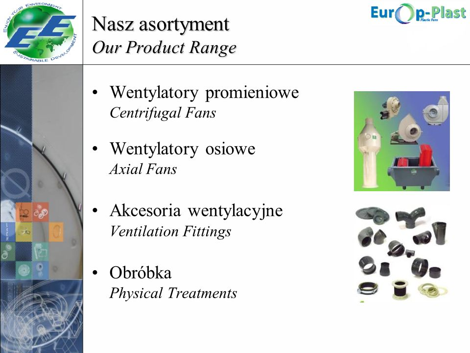 Nasz asortyment Our Product Range