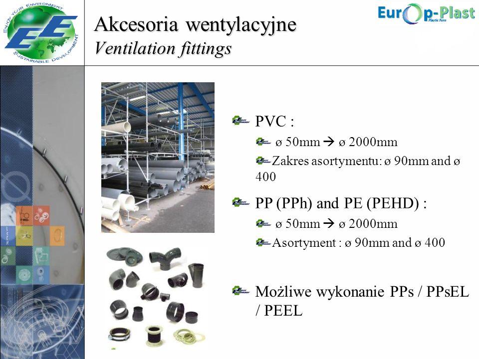 Akcesoria wentylacyjne Ventilation fittings