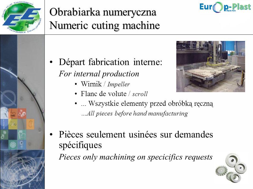 Obrabiarka numeryczna Numeric cuting machine