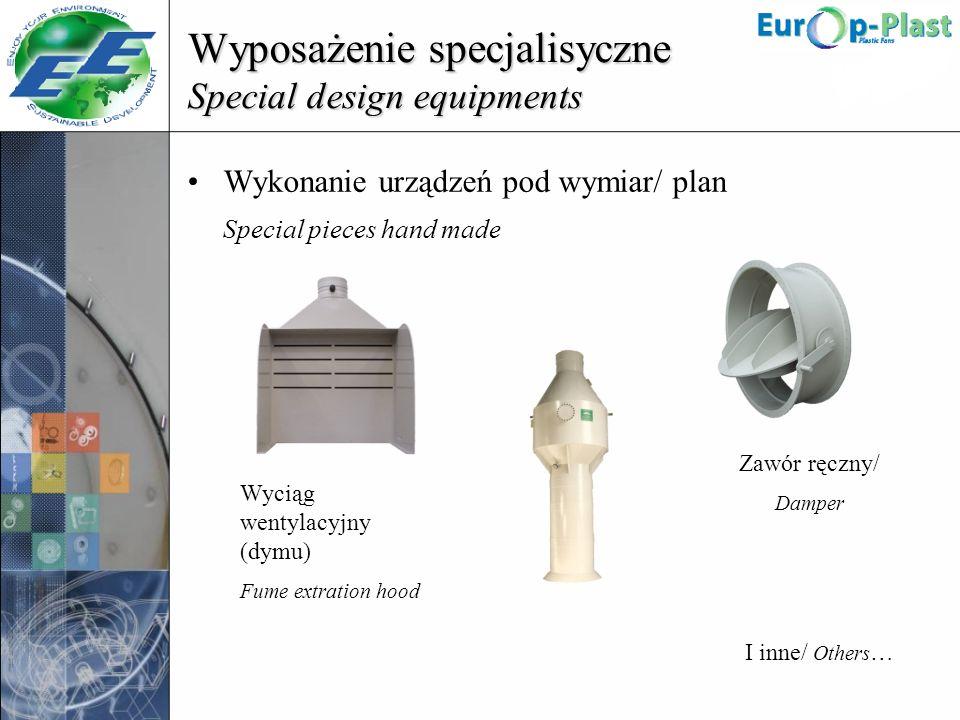Wyposażenie specjalisyczne Special design equipments