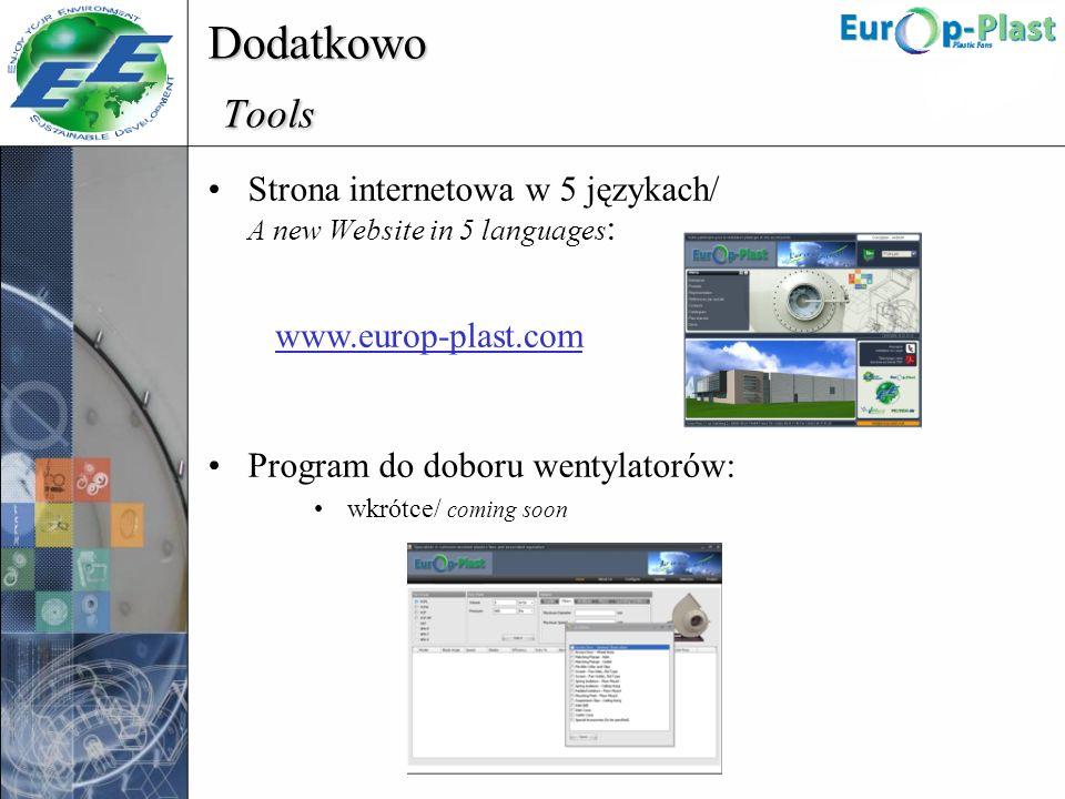 Dodatkowo Tools Strona internetowa w 5 językach/