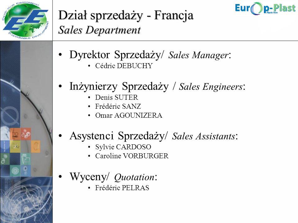 Dział sprzedaży - Francja Sales Department